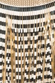 ELISABETTA FRANCHI | Rok met franjes Arabela | zwart/wit  | Afbeelding 6