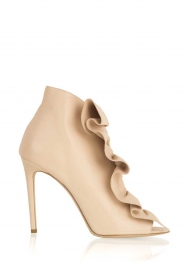 ELISABETTA FRANCHI |  Leather peep-toes Evi | nude  | Picture 1