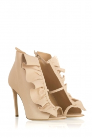 ELISABETTA FRANCHI |  Leather peep-toes Evi | nude  | Picture 4