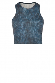 Varley | Cropped sporttop Agnes | blauw  | Afbeelding 1