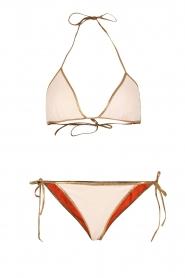 Tooshie | Reversible triangelbikini Hampton | beige/oranje  | Afbeelding 1