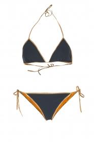 Tooshie | Reversible triangelbikini Hampton | blauw/geel  | Afbeelding 1