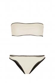 Tooshie | Reversible bandeau bikini Hampton | beige/ zwart  | Afbeelding 1