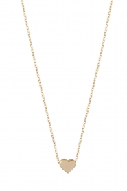 Just Franky |  14k golden necklace Hart | gold  | Picture 1