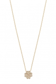 Just Franky | 14k gouden ketting Clover | goud  | Afbeelding 2