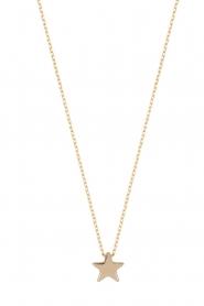 Just Franky | 14k gouden ketting Star | goud  | Afbeelding 1