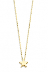 Just Franky |  14k gold necklace Star | yellow gold  | Picture 1