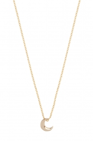 Just Franky |  14k gold necklace Moon | Gold  | Picture 2