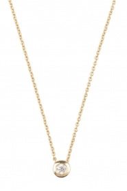 Just Franky | 14k gouden ketting Diamond | goud  | Afbeelding 2