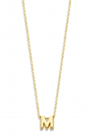 Just Franky |  14k gold necklace length 42 cm | yellow gold  | Picture 1