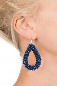 Miccy's | Oorbellen Open Crystals | blauw  | Afbeelding 3
