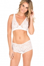 Hanro |  Lace soft cup Moments | white  | Picture 2