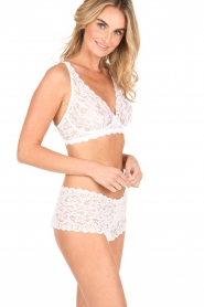 Hanro |  Lace soft cup Moments | white  | Picture 3