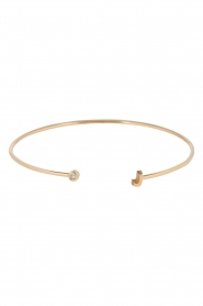 Just Franky | 14k gouden armband Capital | goud  | Afbeelding 1