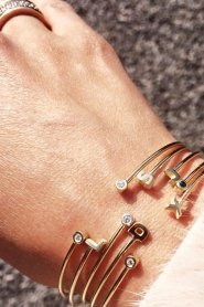 Just Franky | 14k gouden armband Capital | goud  | Afbeelding 3
