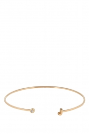 Just Franky | 14k gouden armband Capital | goud  | Afbeelding 2