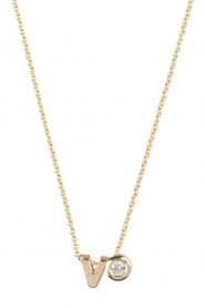 Just Franky |  14k golden necklace length 40 cm | yellow gold  | Picture 1