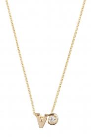 Just Franky | 14k gouden ketting lengte 40cm | goud  | Afbeelding 1
