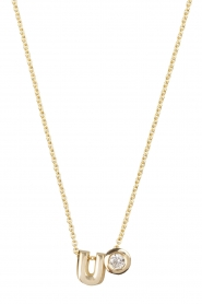 Just Franky |  14k golden necklace length 42 cm | yellow gold  | Picture 1