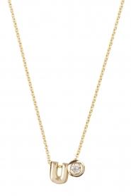 Just Franky | 14k gouden ketting lengte 42 cm | goud  | Afbeelding 2