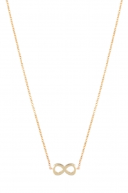Just Franky |  14 golden necklace Infinity | gold  | Picture 1