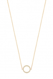 Just Franky |  14k golden necklace Open circle | gold  | Picture 1