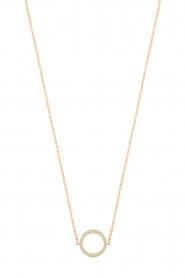 Just Franky | 14k gouden ketting Open circle | goud  | Afbeelding 1