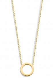 Just Franky |  14k golden necklace Open circle | yellow gold  | Picture 1