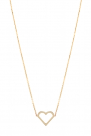 Just Franky |  14k golden necklace Open heart | gold  | Picture 2