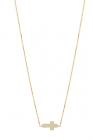 Just Franky |  14k golden necklace Cross | gold  | Picture 1