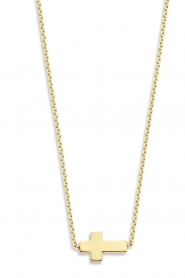 Just Franky |  14k golden necklace Cross | yellow gold  | Picture 1