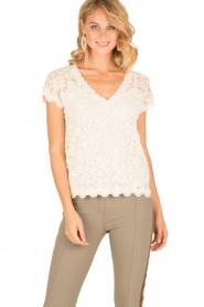 Rosemunde | T-shirt Lace | ivoor  | Afbeelding 2