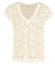 T-shirt Lace | ivoor
