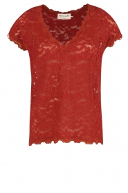 T-shirt Lace | rood