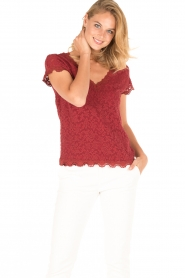 Rosemunde | T-shirt Lace | rood  | Afbeelding 2