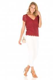 Rosemunde | T-shirt Lace | rood  | Afbeelding 3