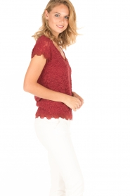 Rosemunde | T-shirt Lace | rood  | Afbeelding 4