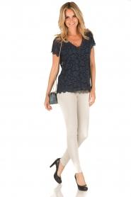 Rosemunde | T-shirt Lace | blauw  | Afbeelding 3