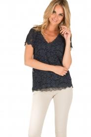 Rosemunde | T-shirt Lace | blauw  | Afbeelding 2