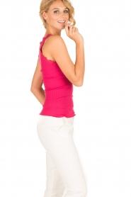 Rosemunde | Zijden V-hals top Babette | roze  | Afbeelding 3