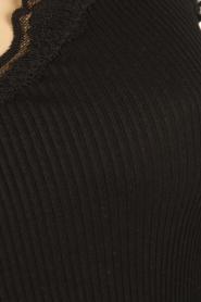 Rosemunde | Zijden V-hals top Babette | zwart  | Afbeelding 5