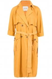 American Vintage | Trenchcoat Katetown | geel  | Afbeelding 1