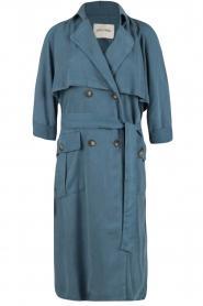 American Vintage | Trenchcoat Katetown | blauw  | Afbeelding 1