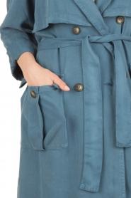 American Vintage | Trenchcoat Katetown | blauw  | Afbeelding 6