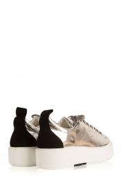 Morobé | Leren platform sneaker Cannes | zilver  | Afbeelding 4