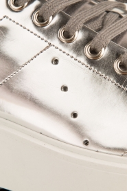 Morobé | Leren platform sneaker Cannes | zilver  | Afbeelding 6