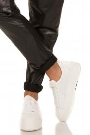 Morobé | Leren platform sneaker Cannes | wit  | Afbeelding 2
