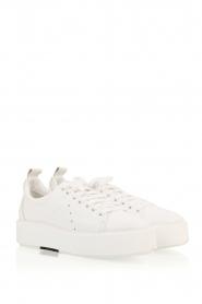 Morobé | Leren platform sneaker Cannes | wit  | Afbeelding 3