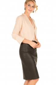 By Malene Birger |  Lamb leahter skirt Floridia | black  | Picture 2
