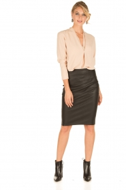 By Malene Birger |  Lamb leahter skirt Floridia | black  | Picture 3